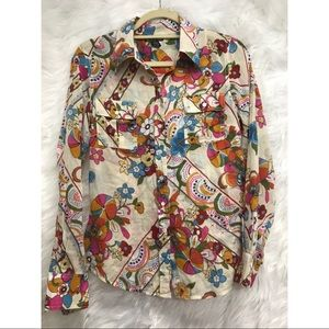Lucky Brand, 70s inspired button down, Pre-owned